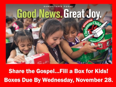 Operation Christmas Child Boxes.Operation Christmas Child Boxes Revive Brooklyn Park Church