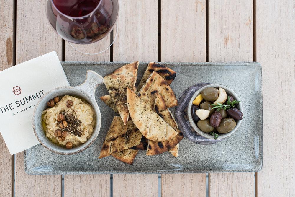 Hummus & Warm Olive