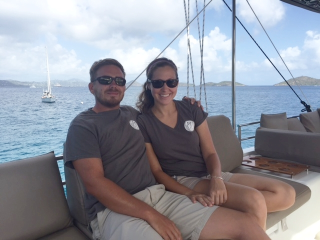 Ava and Bryan debt free and all smiles in the British Virgin Islands