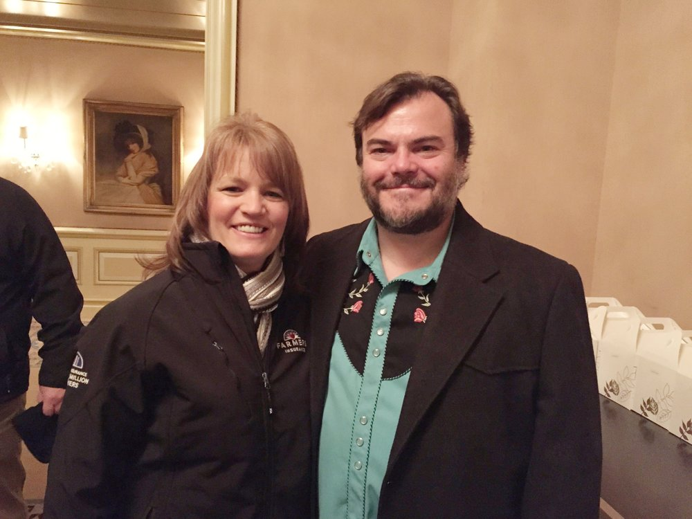 Mrs. Hunt with Actor Jack Black