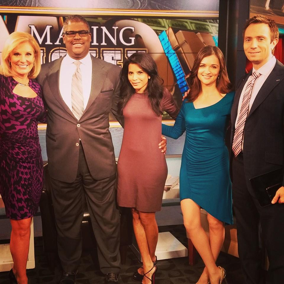 Carrie with Fox Business' Charles Payne and the gang