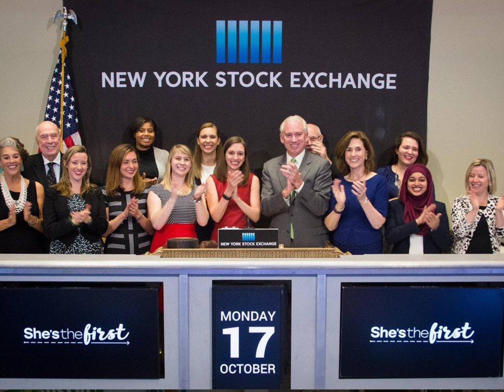 She's the First ringing the opening bell at the @NYSE