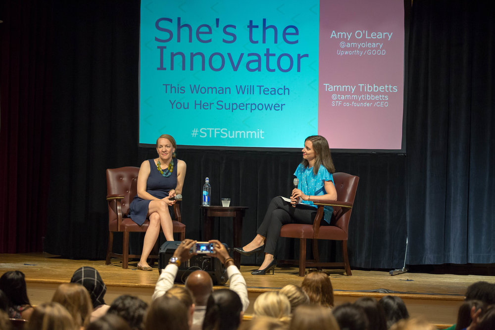 The @shesthefirst summit where Tammy showed how it's done