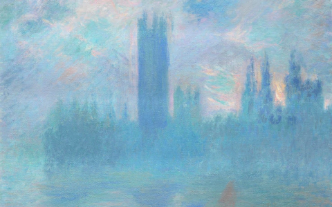 """House of Parliament"" by Claude Monet"