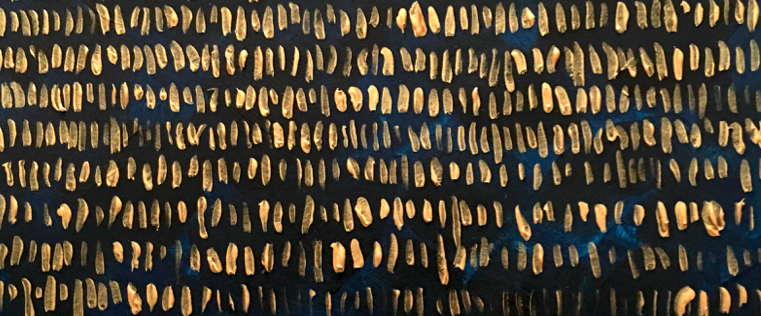"(Close up of Meg Haden's ""Waiting, Counting"" from Art for Advent: 2016."