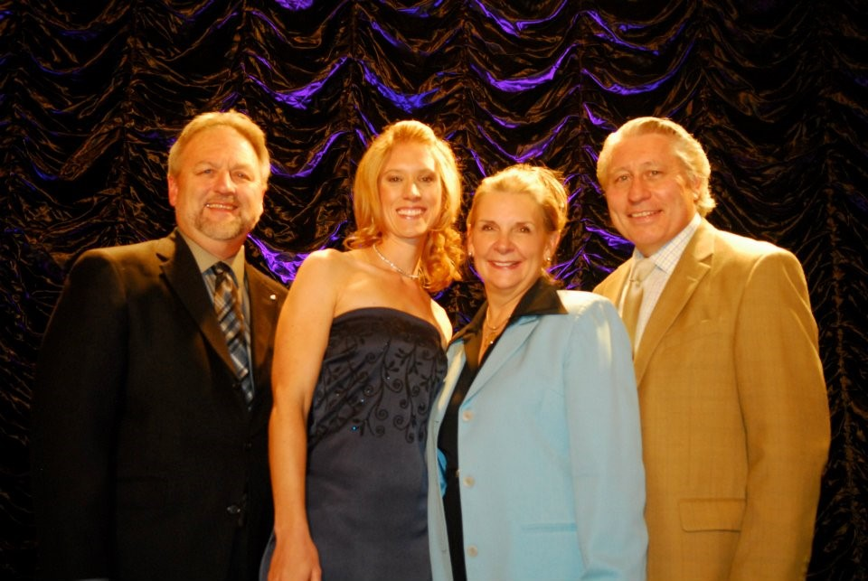 With Dan Rosecrans, Janet Parshall and Craig Parshall during a Son Broadcasting banquet