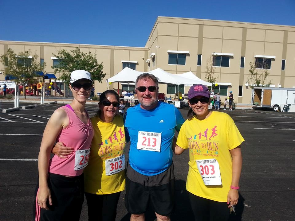 With Annette Garcia, Dan Rosecrans and Michelle Garcia at the Born to Run event