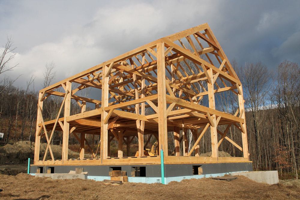 The making of a timber framed home 03 - Berkshire Mountain Design Build, LLC