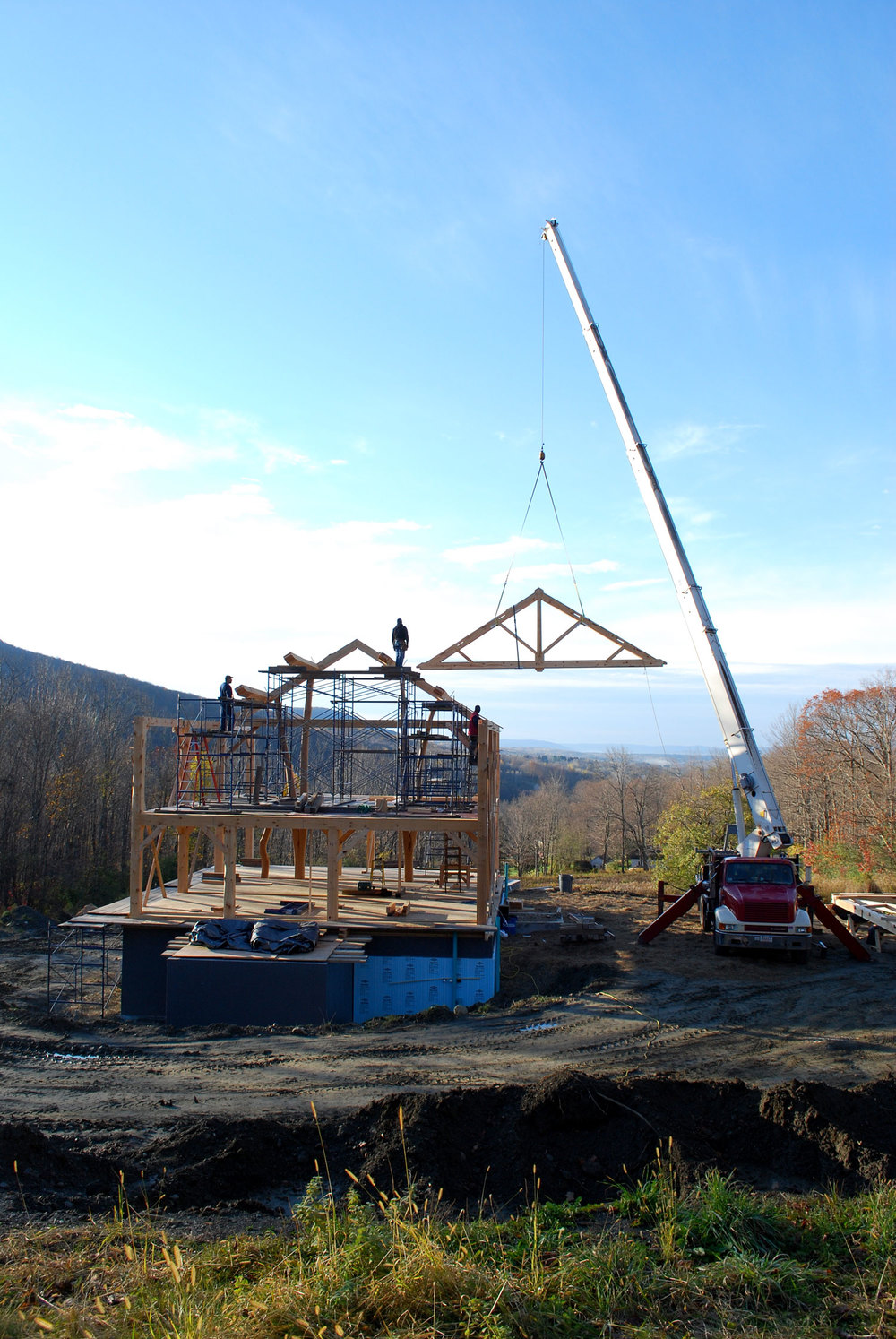The making of a timber framed home - Berkshire Mountain Design Build, LLC