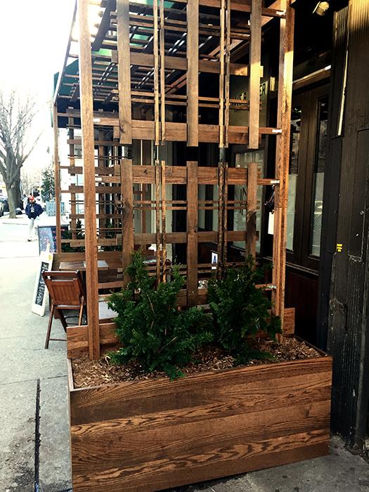 Huntergreen custom woodwork and plantings
