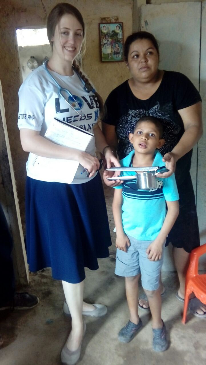 The Mercy Kids took a couple dozen food grinders to the moms of kids with disabilities that prevent the children from chewing properly.  This is a wonderful success story of a little guy who now will get more nutrients from his food.  YAY!
