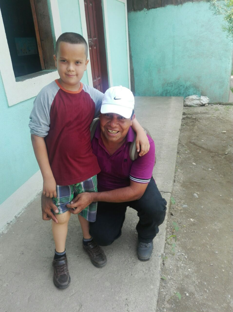 The Mercy Kids was able to financially help Emanuel get to Florida where he was fitted with a new prosthetic leg.  What a pair.  Pastor Carlos is just a bit excited!