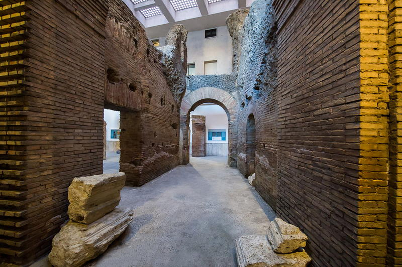 Parts of the underground ruins of the Stadium of Domitian (under Piazza Navona); Rome, Italy   ** Source: http://www.artslife.com/2015/07/15/sotterranei-di-piazza-navona-lo-stadio-di-domiziano/