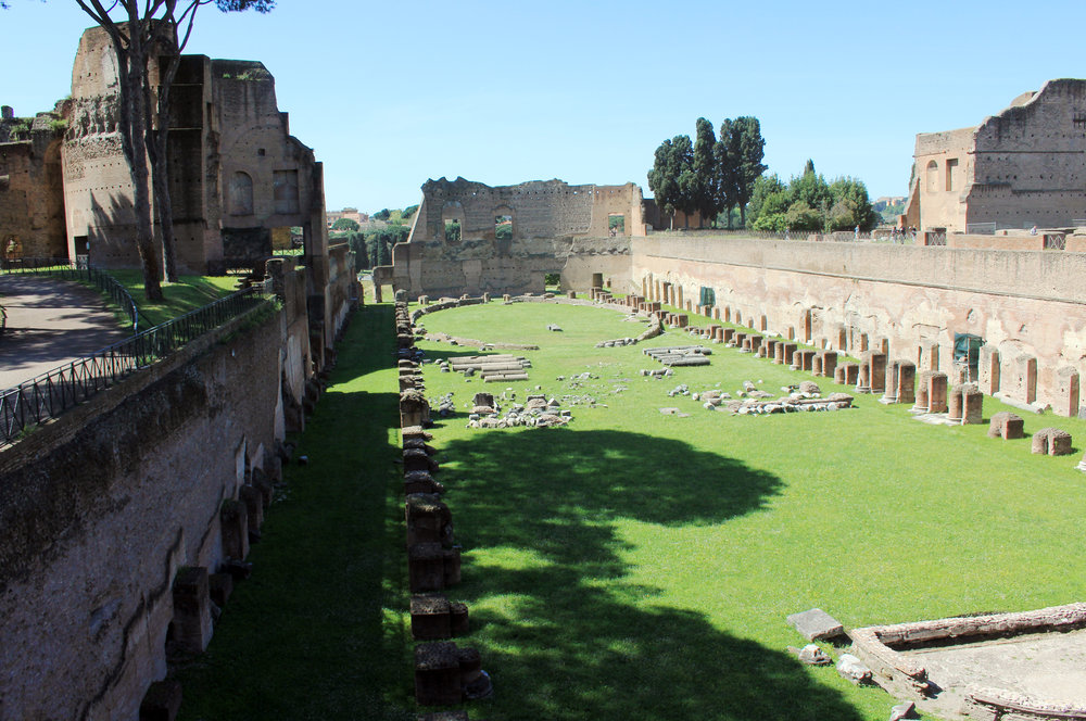 Stadium of Domitianus (part of the palatine hill). Source: Wikimedia