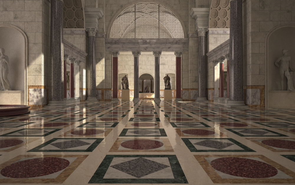 The complex was decorated with mosaics and marble floors CREDIT: ITALIAN CULTURE MINISTRY