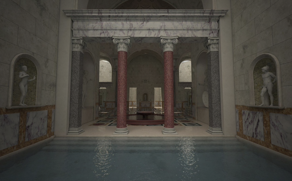 Swimming pools, libraries and gyms were used by thousands of Romans each day CREDIT: ITALIAN CULTURE MINISTRY