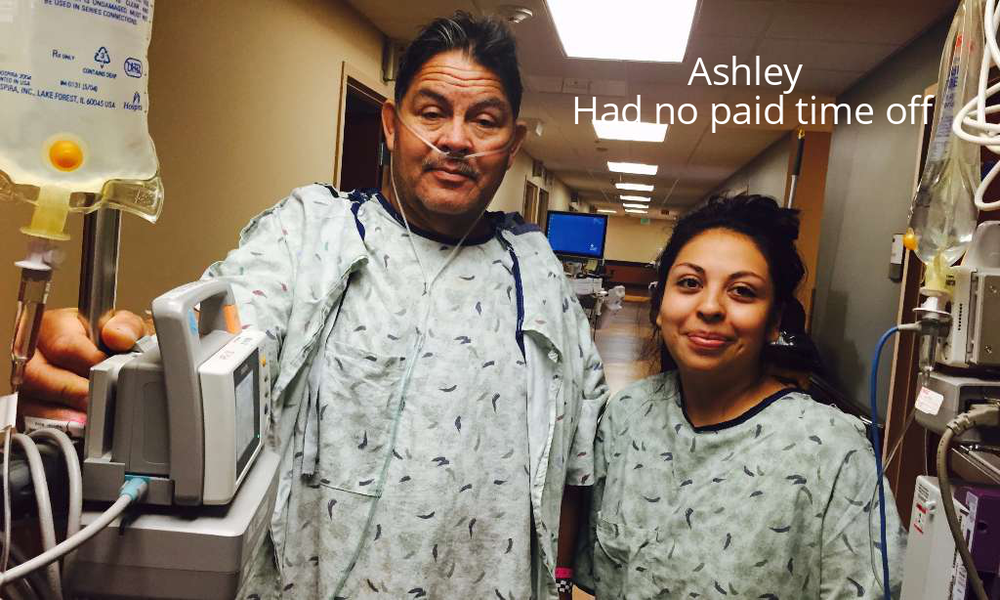 Ashley donated to her father.