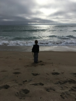 When he saw the ocean from the back porch of our friends' house, he ran straight to it. All the frenetic energy of the long car trip stilled. The world became infinitely larger.
