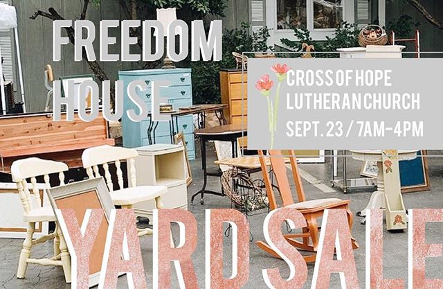 THIS SATURDAY! An amazing group of our volunteers have put together a huge Yard Sale - every dollar going back to restoring the lives of our women! If you're free go check it out!  We'll also have a couple of vendors there including @_a_l_o_e_ (midcentury modern homegoods) and @morethanpockets clothing! We want to see you there!!!!
