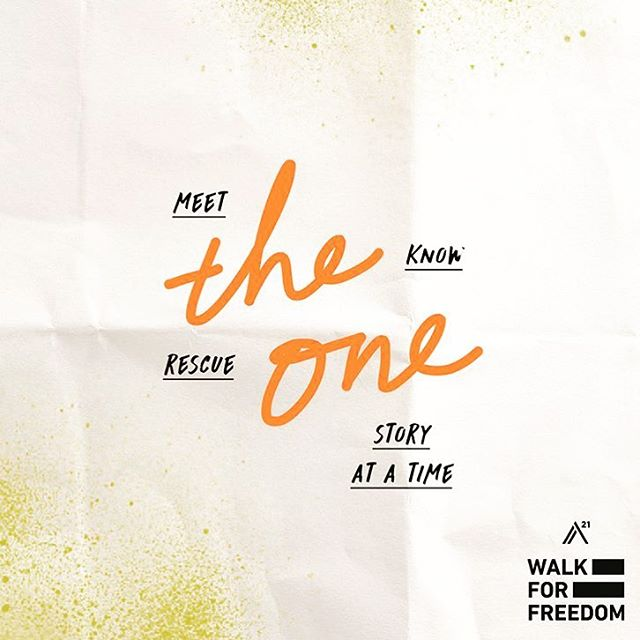 FOR THE ONE! Yes! What an opportunity for YOU to stand for the ONE! Less than two weeks until the @a21walkforfreedom2017! If you haven't registered - head to the site now! WE will be walking for the trapped, broken, abused, tormented and lost. Will YOU? JOIN US! Next Saturday! // a21.org/albuquerque ❌❌❌ #fortheone #1for1