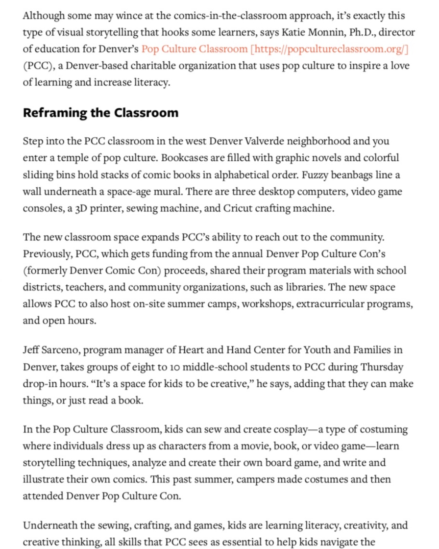 The Power of Pop Culture   Colorado Parent Magazine  November 2018 Issue  Page 2/4