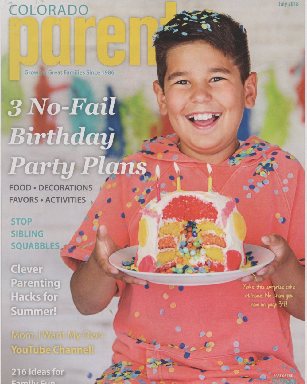 Allergies and Birthday Parties   Colorado Parent Magazine  July 2018 Issue