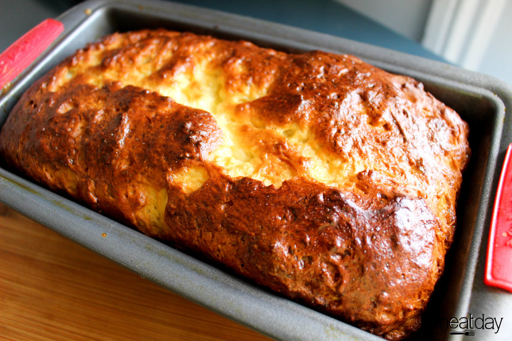 This is a homemade gluten free brioche loaf I made specifically for this recipe. Look how beautiful!