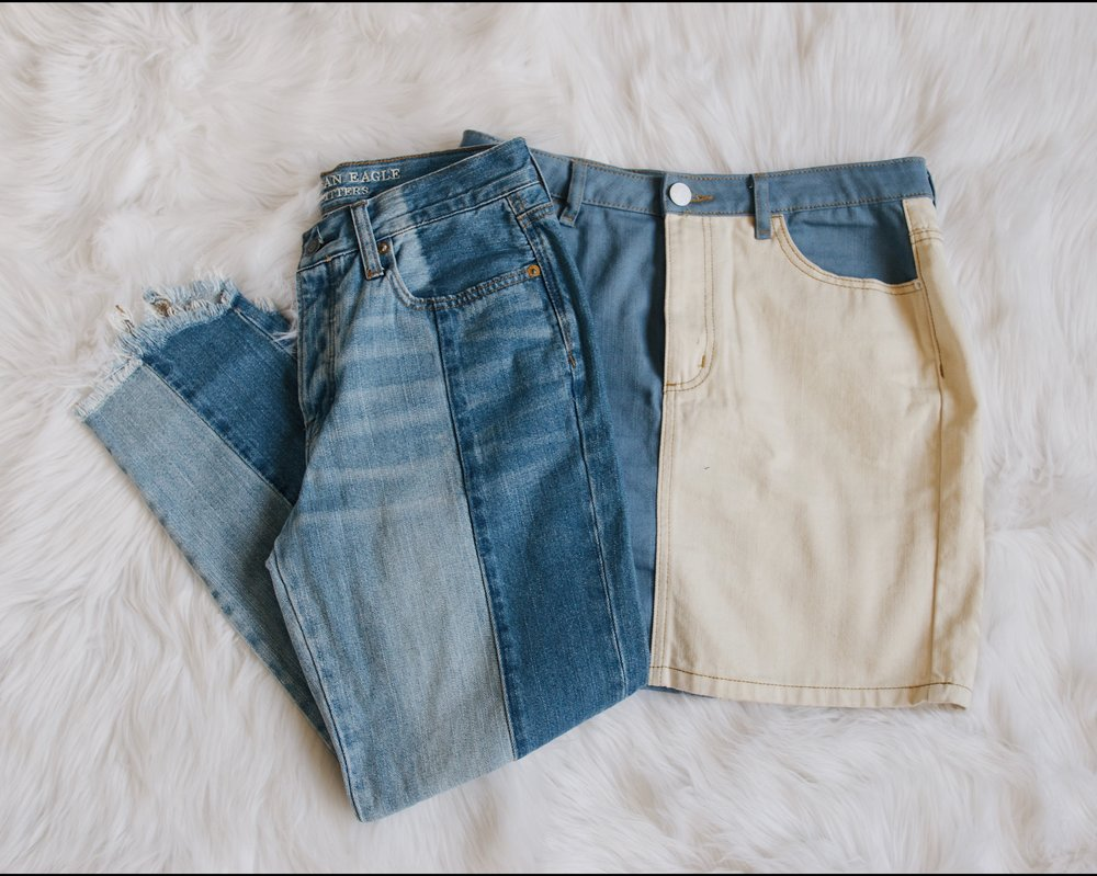 Bottoms - Keep it simple and bring pieces that can be worn with everything. For me, I decided to stick with denim jeans and a skirt that are simple and unique. I love that they're neutral, but still make me feel fashionable and trendy.{ jeans - american eagle // skirt - urban outfitters }