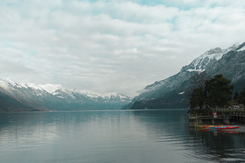 Lake Brienz again, featuring our kayaks