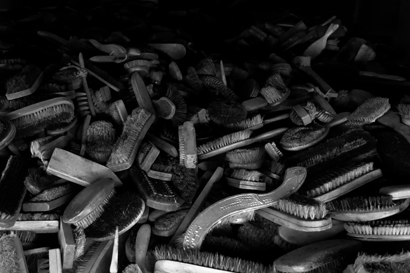 Auschwitz: hair brushes stolen from prisoners