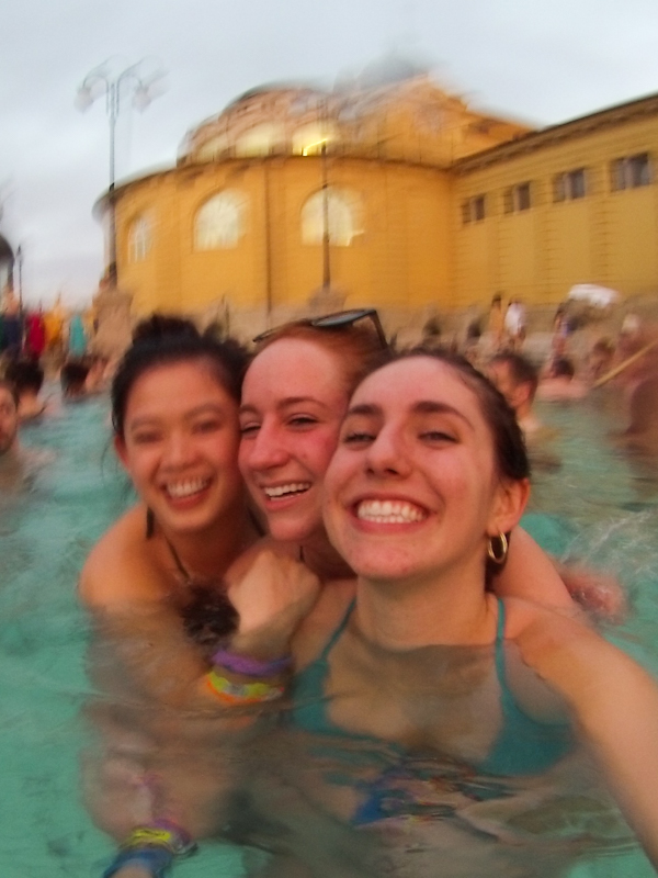 Budapest baths w/ Amanda and Maddie