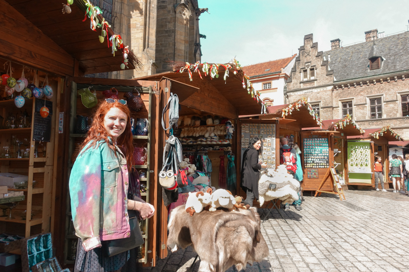 4.14.18. The markets in Prague Castle