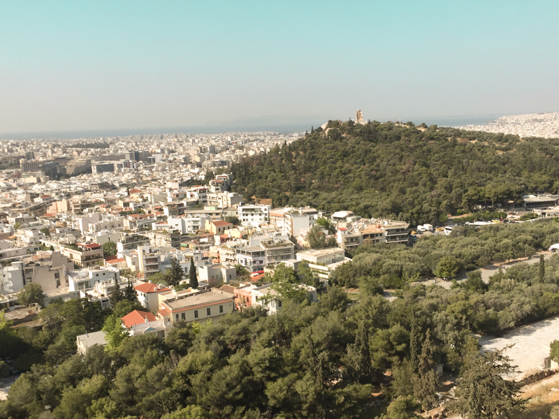 4.20.18. View from the slopes of the Acropolis