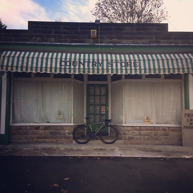 Country store #keepcyclingrad #tbonecycles #countryside #britishcountryside #peakdistrict #derbyshire #cycling #litespeed #autumn #autumn🍁 #fall #outsideisfree #fromwhereiride #cyclinglife #cyclingpics #village #instacycling #instabike #titanium #tibikes