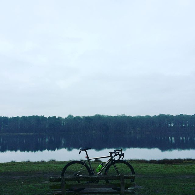 First ride after a week off. Possibly the first ride of the #festive500 #keepcyclingrad #tbonecycles #tattonpark #bike #bicycle #lake #roadslikethese #fromwhereiride #cycling #cyclingpics #litespeed #cyclingpictures #outsideisfree