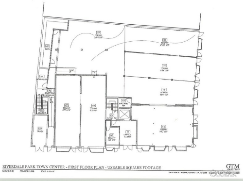 The original building floor plan created by GTM Architects.