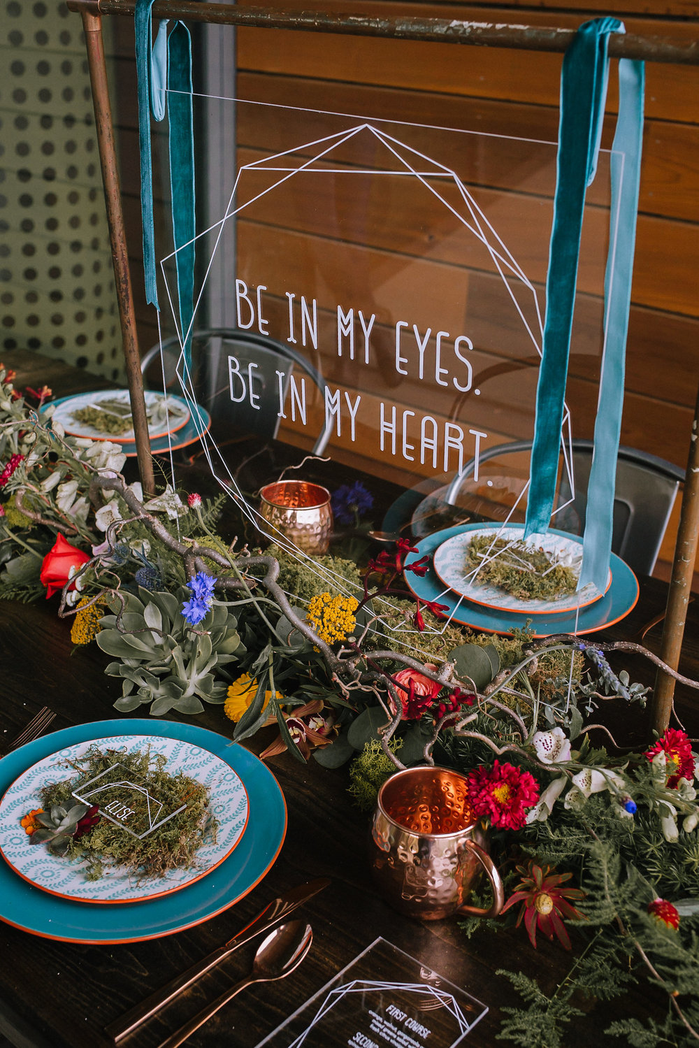"""Be in my eyes, be in my heart"" sign from The Lumineers created by Purple Wagon Designs on acrylc."