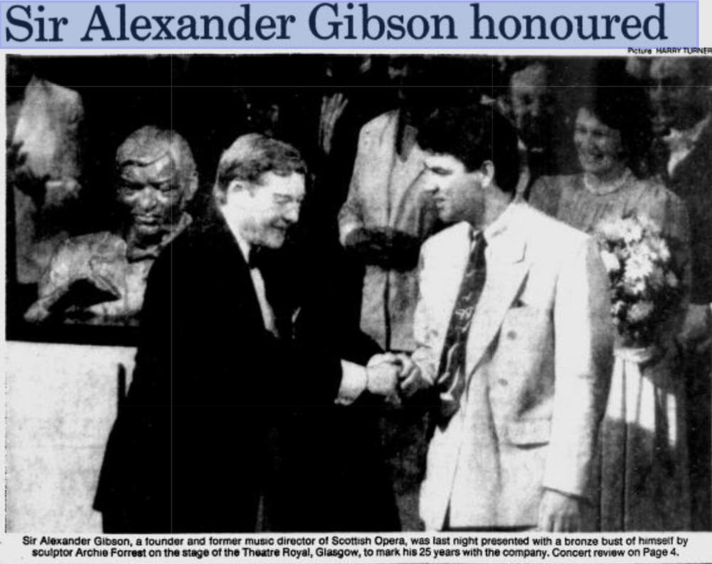 Sir Alexander Gibson Bust