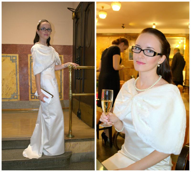 - Nebylo to poprvé, co jsem vynesla róbu, která vůbec nebyla ze salonu. I bílé saténové šaty s pelerínou, jaké jsem oblékla na akci Česko tropí hlouposti v Lucerně, byly ze second handu.