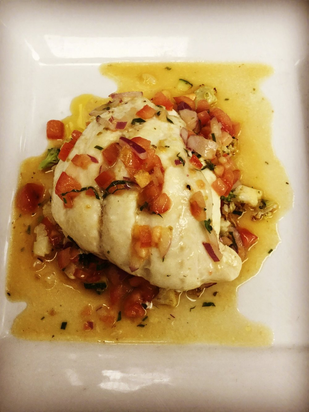 Stuffed Lemon Sole with Batuta Sauce