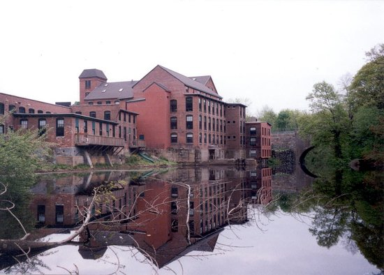 Sanford Mill  - Medway, MA.  In 1989 this 1700's era mill on the Charles River was transformed into residential condominiums.