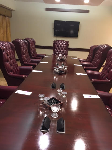 BoardRoom at Ontario Airport Hotel. FamTrip Greater Ontario CVB.