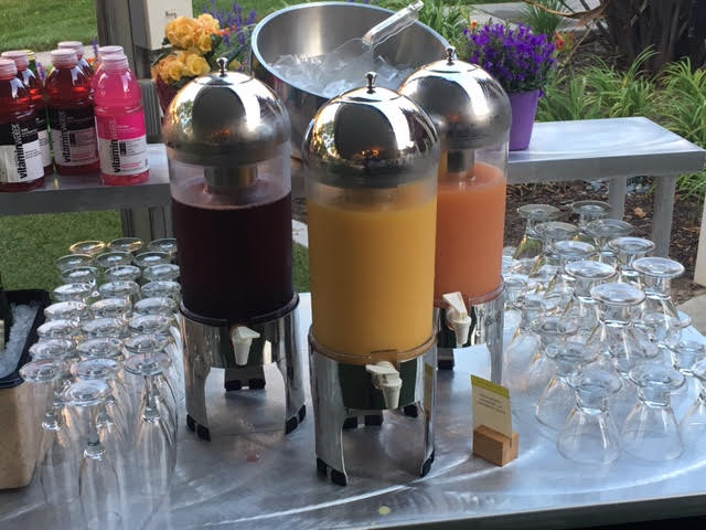 Refreshing Juice Bar at Doubletree Ontario. FamTrip Greater Ontario CVB.