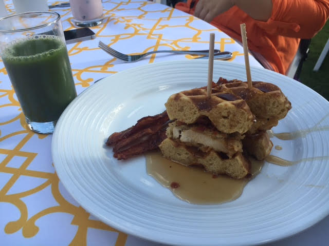 Chicken & Waffles & Green Juice!  @SmartMeetings