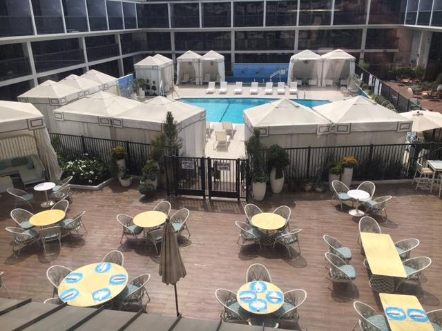 Pool area & Cabanas @SheratonUniv