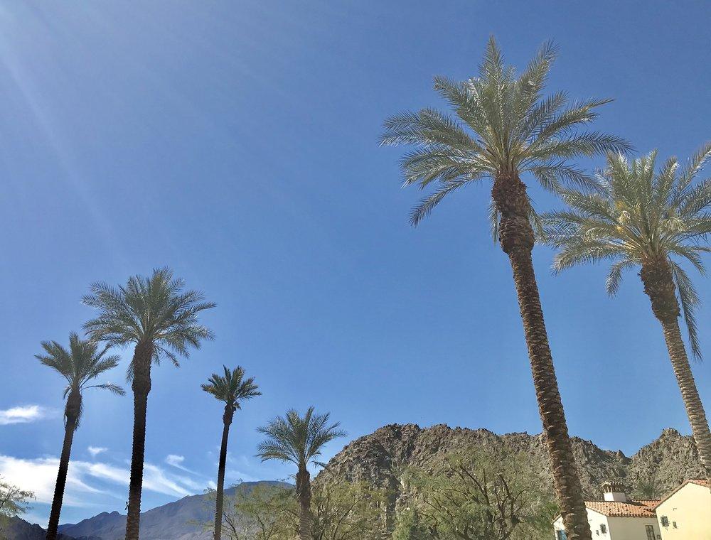 a 77 degree day at Legacy Villas La Quinta, CA