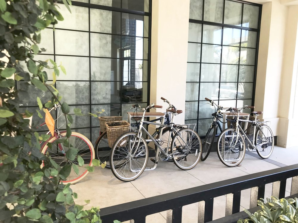 Guests can use bikes at Kimpton's Lapeer Hotel to discover WeHo!