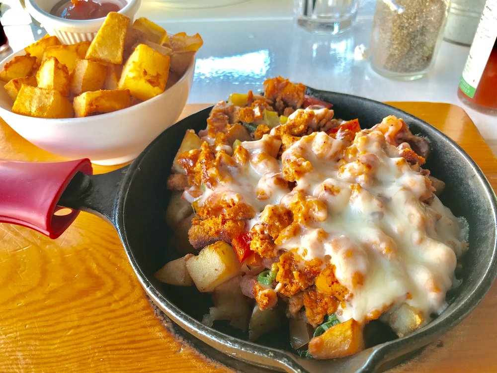 I had the Soyrizo Hash. Delish!! At Toast Cafe on 3rd in LA.