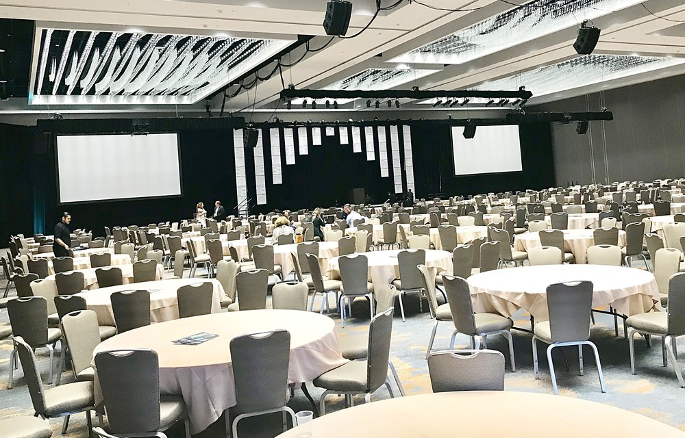 With 260,000 square feet of event space, the Marriott Marquis can handle most programs