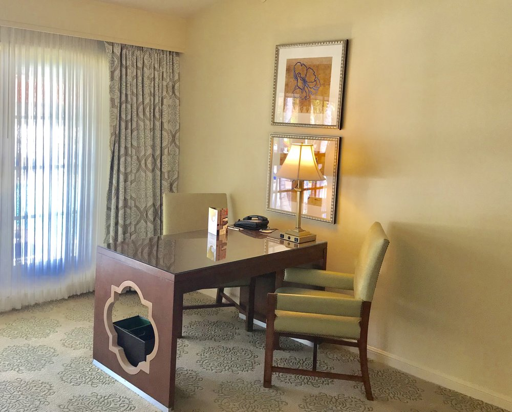 Rooms are very spacious and all have working spaces. @OmniLaCosta Resort & Spa